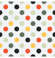 seamless variegated polka dot pattern vector image
