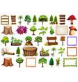 set ornamental plant vector image