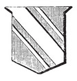 shield showing cotice is one third less than the vector image vector image