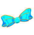 silk blue bow vector image vector image