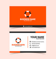 simple orange business card print template vector image vector image