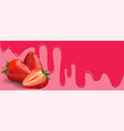 strawberry fruit on pink background vector image
