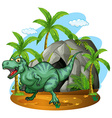 T-Rex living in the cave vector image