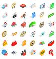 trademark icons set isometric style vector image vector image