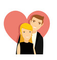 two young couple at valentines day vector image