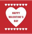 valentine day simple retro poster on red vector image vector image