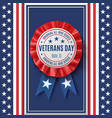 veterans day badge on abstract american background vector image vector image