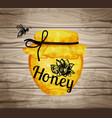 watercolor icons honeycomb honey hand lettering vector image