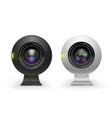 web cameras white and black realistic set vector image vector image