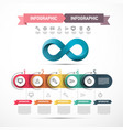 web presentation infographic design with infinity vector image vector image