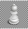 white chess piece bishop isometric vector image vector image
