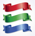 wide ribbons banner flowing scroll vector image vector image