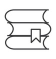 books line icon sign vector image