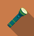 Flat design modern of flashlight icon camping and vector image