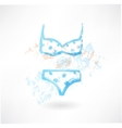 swimsuit grunge icon vector image
