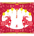 2015 year of the goat Chinese Mid Autumn festival vector image vector image