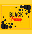 abstract black friday yellow banner design vector image vector image