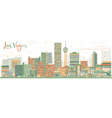 Abstract Las Vegas Skyline with Color Buildings vector image
