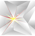 abstract white low polygon with lighting on red vector image vector image