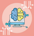 artificial intelligence concept cartoons vector image vector image