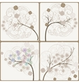 artistic trees vector image vector image