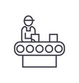 assembly conveyor concept thin line ico vector image vector image