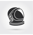 Astronaut helmet with big glass and reflection vector image vector image