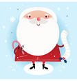 Beautiful cute Santa with delivery note on winter vector image vector image