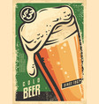 beer poster wall decor for irish pub vector image vector image