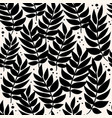 black leaves geometric pattern background vector image vector image