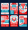 blood donation banner for world donor day design vector image vector image