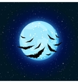 blue moon and bats vector image