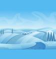 blue winter landscape vector image vector image