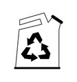 canister recyclable recycling related icon image vector image vector image