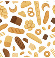 cartoon bakery elements pattern or vector image vector image