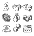 Casino Sport and Leisure Games Icons Chess