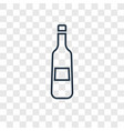 champagne concept linear icon isolated on vector image vector image