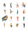 characters different musicians people set 3d vector image vector image