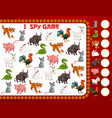 children new year game with chinese zodiac animals vector image