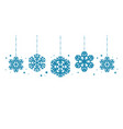 christmas decorations or decorative snowflakes vector image vector image