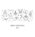 Christmas isolated concept from linear icons Flat vector image vector image