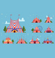 circus tent festival events or party park tent vector image
