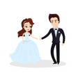 couple in love dancing on ceremony partying vector image vector image