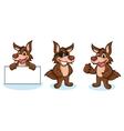 Coyote Mascot happy vector image