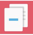 Delete Documents Icon vector image