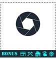 diaphragm icon flat vector image