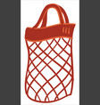 ecological mesh bag made with strings eco tote vector image