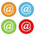 Email sign button set