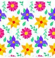 floral mexican seamless pattern vector image vector image