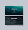 gift voucher templates vector image